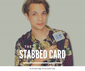 Poster for Maddermarket Theatre show David Fung: The Stabbed Card