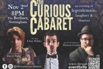 The Curious Cabaret Poster For Nottingham Magic Show